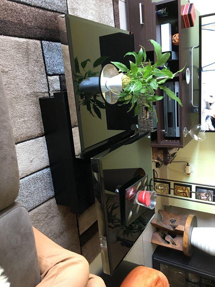 table basse de salon en verre trempé noir  250 Sanary-sur-Mer (83)