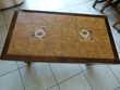 TABLE BASSE SALON BOIS TEINTÉ Meubles