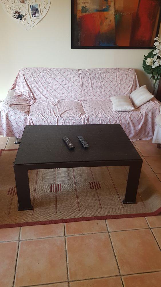table basse de salon en feronnerie et granite . 400 Beynes (78)