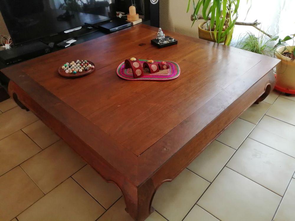 table basse de salon teck opium massif dimension 120X120 CM  550 Narbonne (11)