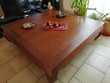 table basse de salon teck opium massif dimension 120X120 CM