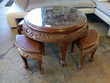 Table basse  style asiatique + 4 tabourets Toulouse (31)