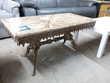 Table basse style Louis XV bronze et marbre