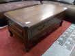 Table basse style Louis XV merisier massif 1 tiroir Meubles