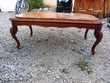 Table basse de style, merisier, plateau marbre, trèsbon état Meubles
