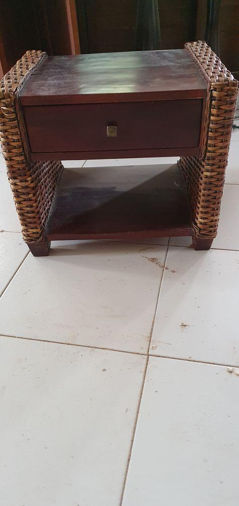 table basse en teck et en rotin indonésienne 15 Noisiel (77)