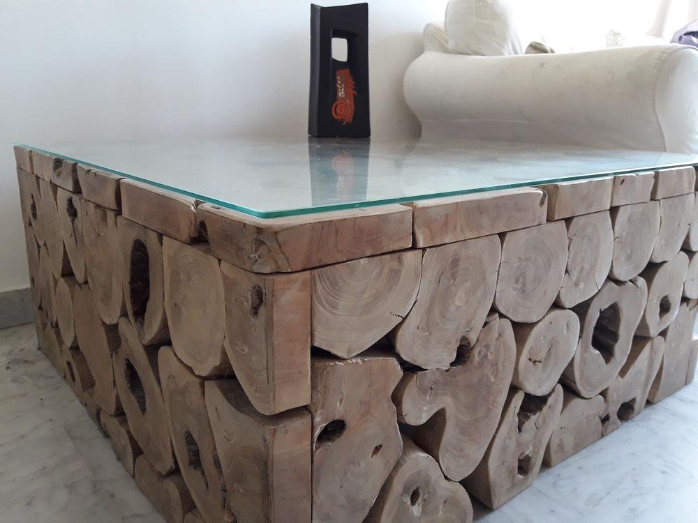 Table Basse Rondin De Bois.Table Basse Unique En Rondins De Bois