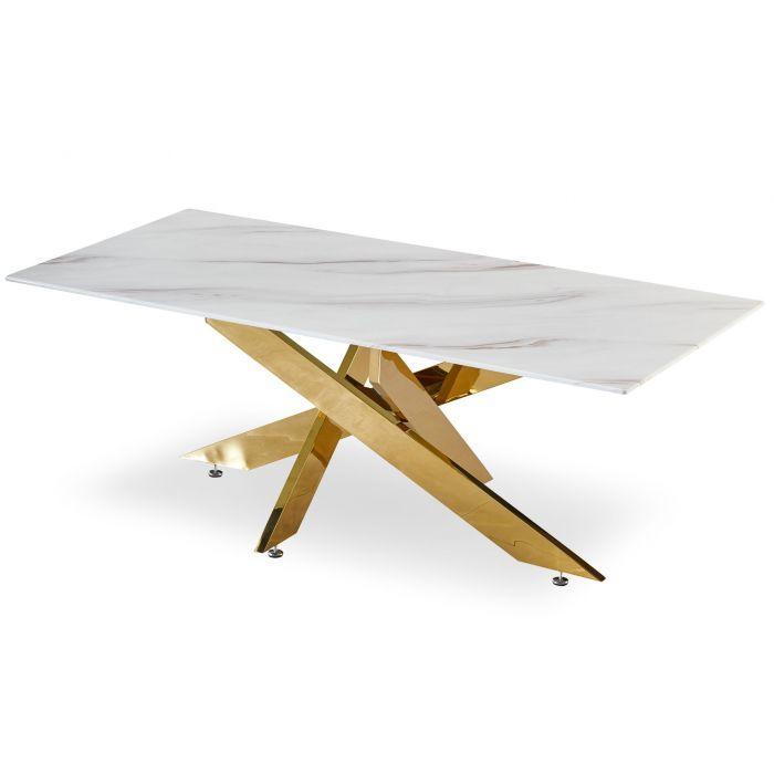 Table basse véritable marbre et doré  150 Marseille 6 (13)