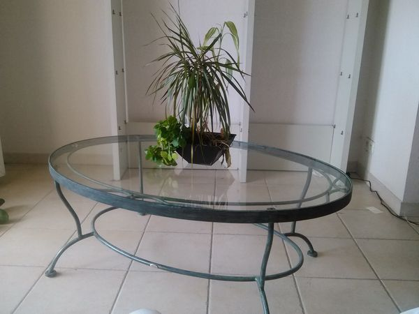 Achetez table basse en verre occasion annonce vente for Table basse verre et fer forge