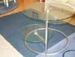 Table basse en verre trois plateaux Meubles