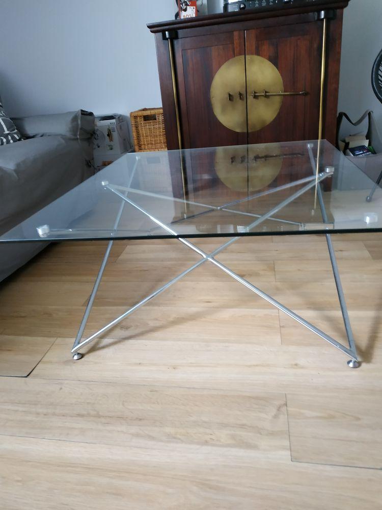table basse en verre et métal 50 Rennes (35)