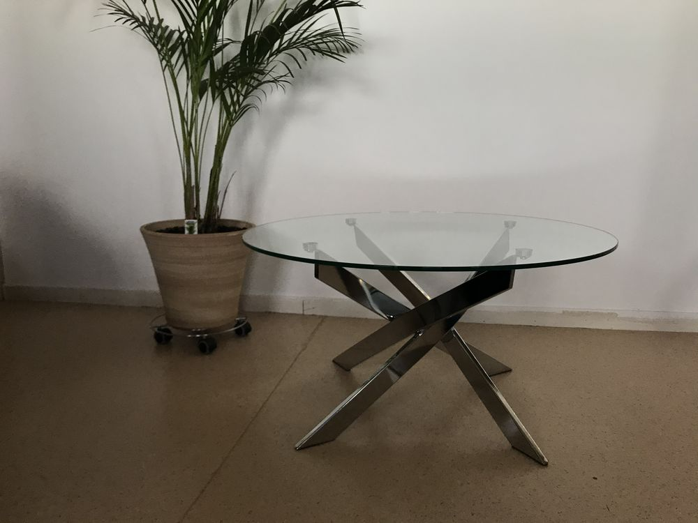 Table basse en verre structure acier chromé  80 Pérenchies (59)