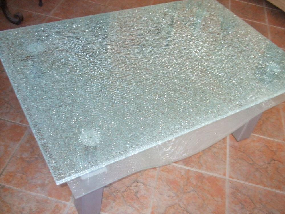 table basse en verre brisé 100 Mougins (06)