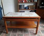 Table basse vintage bois et céramique 100 Paris 12 (75)