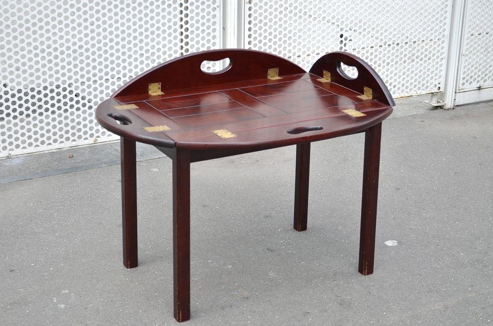 Table de bateau butler en acajou ancienne 550 Pantin (93)