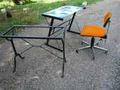 Table bistro/bureau dessus verre/siège bureau 45 Castres (81)