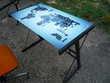 Table bistro/bureau dessus verre/siège bureau Meubles
