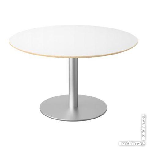 achetez table blanche ronde occasion, annonce vente à moncetz