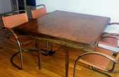 Table en bois ancienne pliante à rallonge 115x125/250 30 Toulon (83)