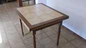 Table en bois  carrelée à rallonges (rectangulaire) 80 Montpellier (34)