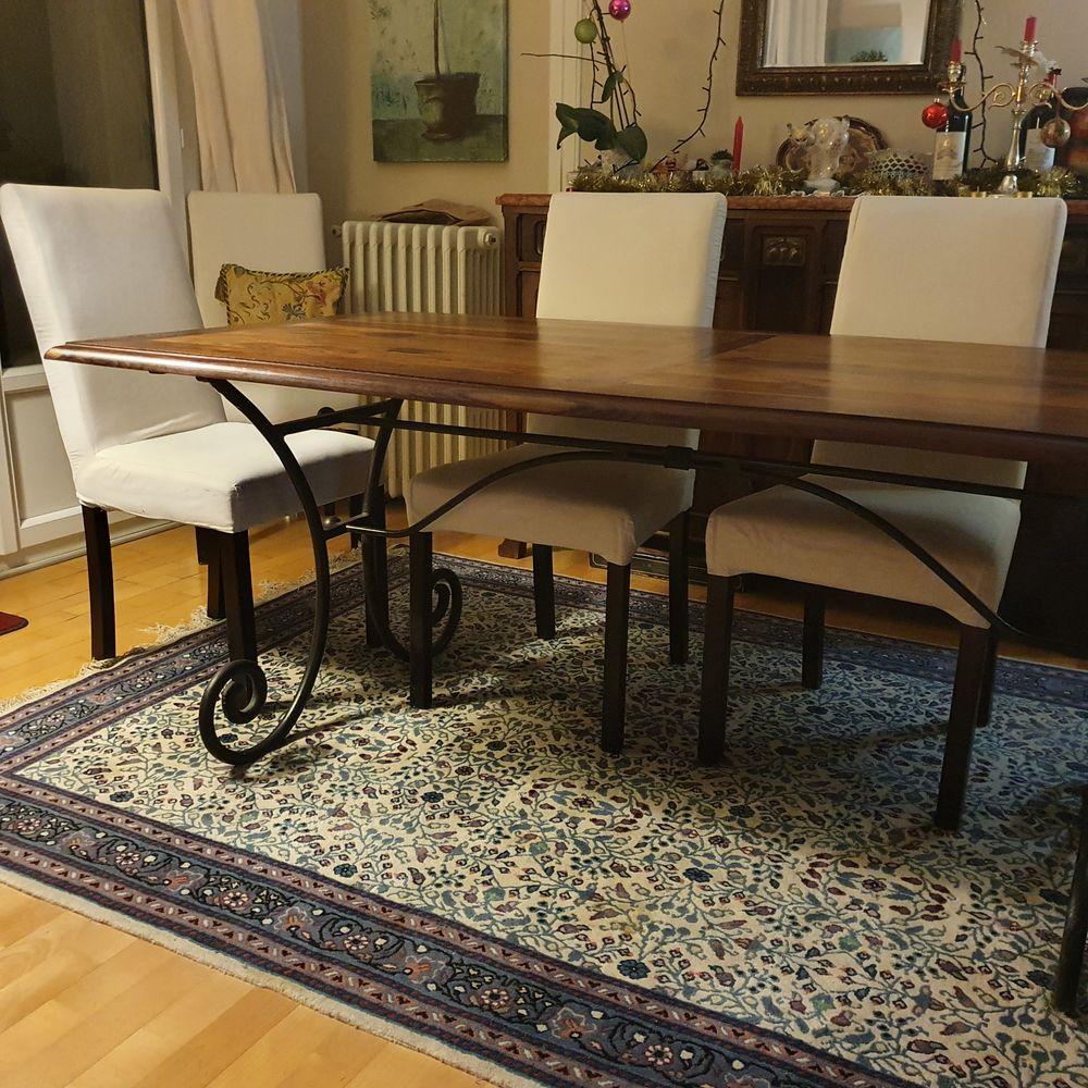 Table en bois et fer forgé  400 Le Bouscat (33)