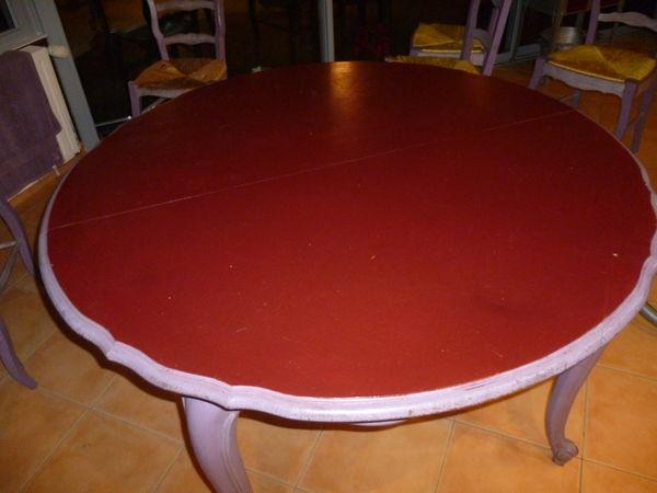 Table bois massif peinte Meubles