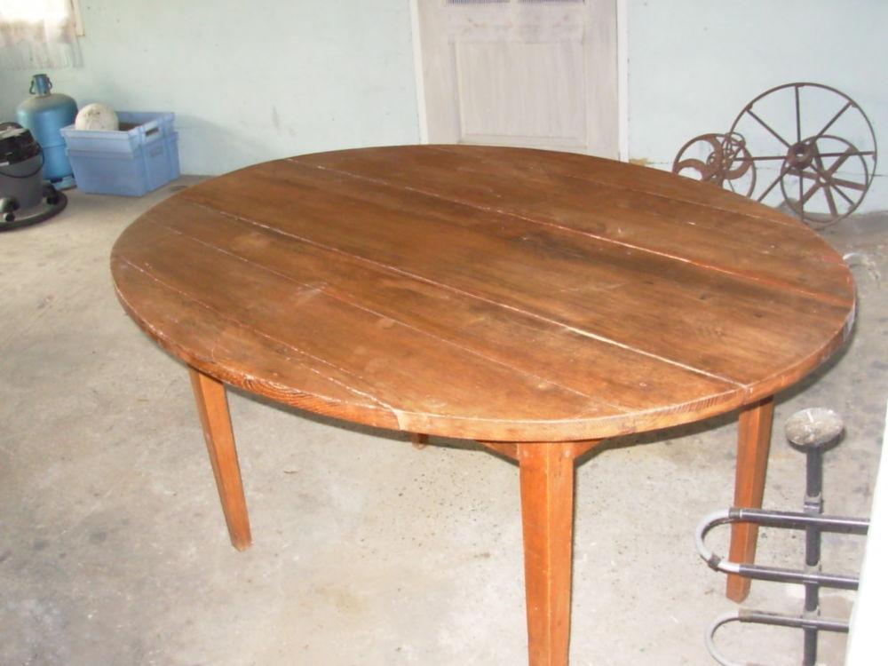 TABLE EN BOIS MASSIF OVALE 30 Laurac (11)