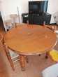 Table en bois massif + chaises Meubles