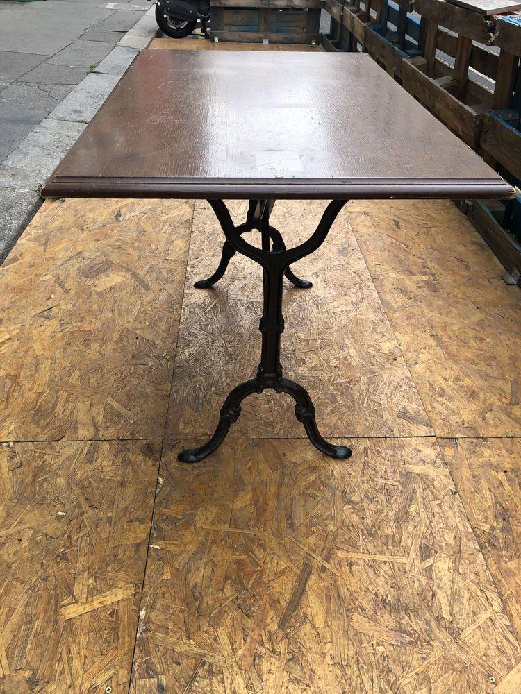 Table Bois Massif + pied fer forgé  80 Paris 11 (75)