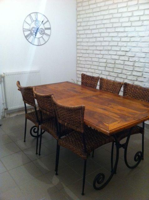 Table en bois de sheesham massif et fer forgé L 180 cm 199 Noyal-sur-Vilaine (35)