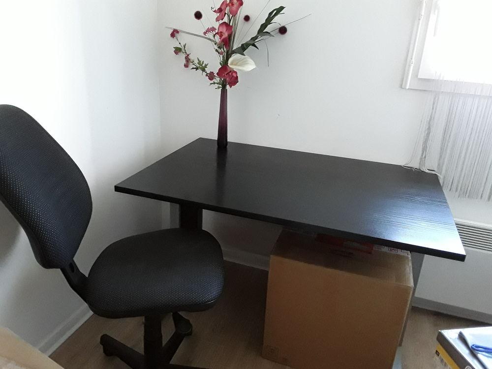 table de bureau bois wengé + chaise 90 Loos (59)