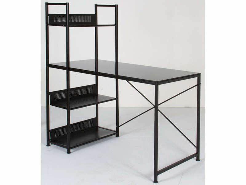 Lot table et bureau verre trempé  noir + commode noire 200 Schiltigheim (67)
