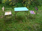 Table camping vintage/1 chaise /1 fauteuil 25 Castres (81)