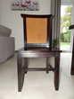 Table carrée étirable bois massif Wenge + 4 chaises Wenge Meubles