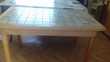 table en pin carrelée Meubles