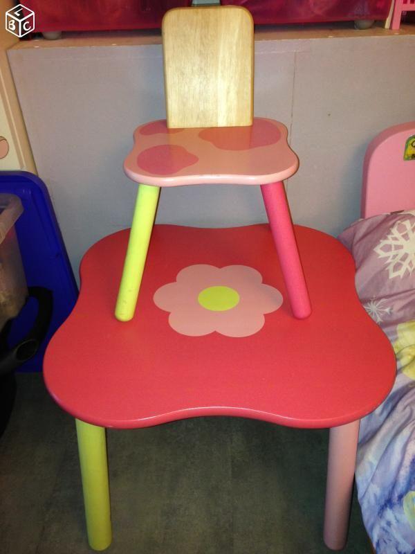 Table et chaise en bois enfant 25 Bouc-Bel-Air (13)