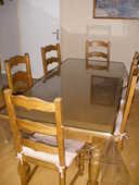 TABLE +6 CHAISES CHENE 150 Orly (94)