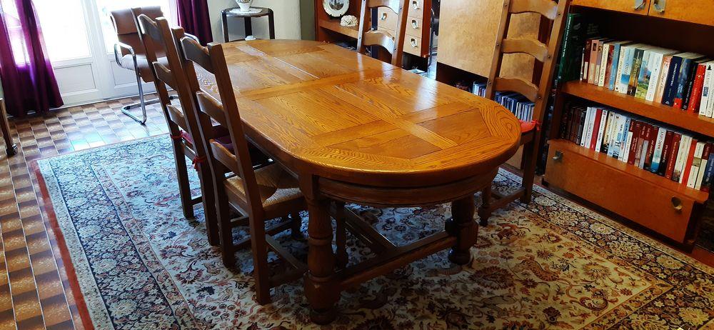 Table et chaises en chêne massif 450 Fos-sur-Mer (13)