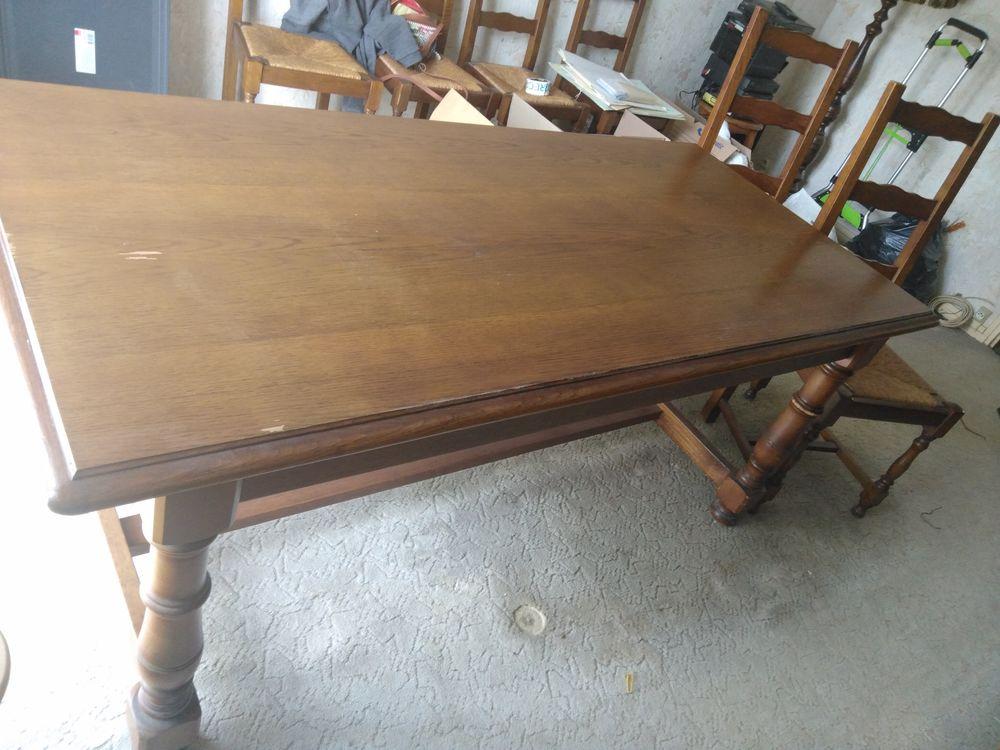 Table + 6 chaises en chêne massif 100 Pamfou (77)
