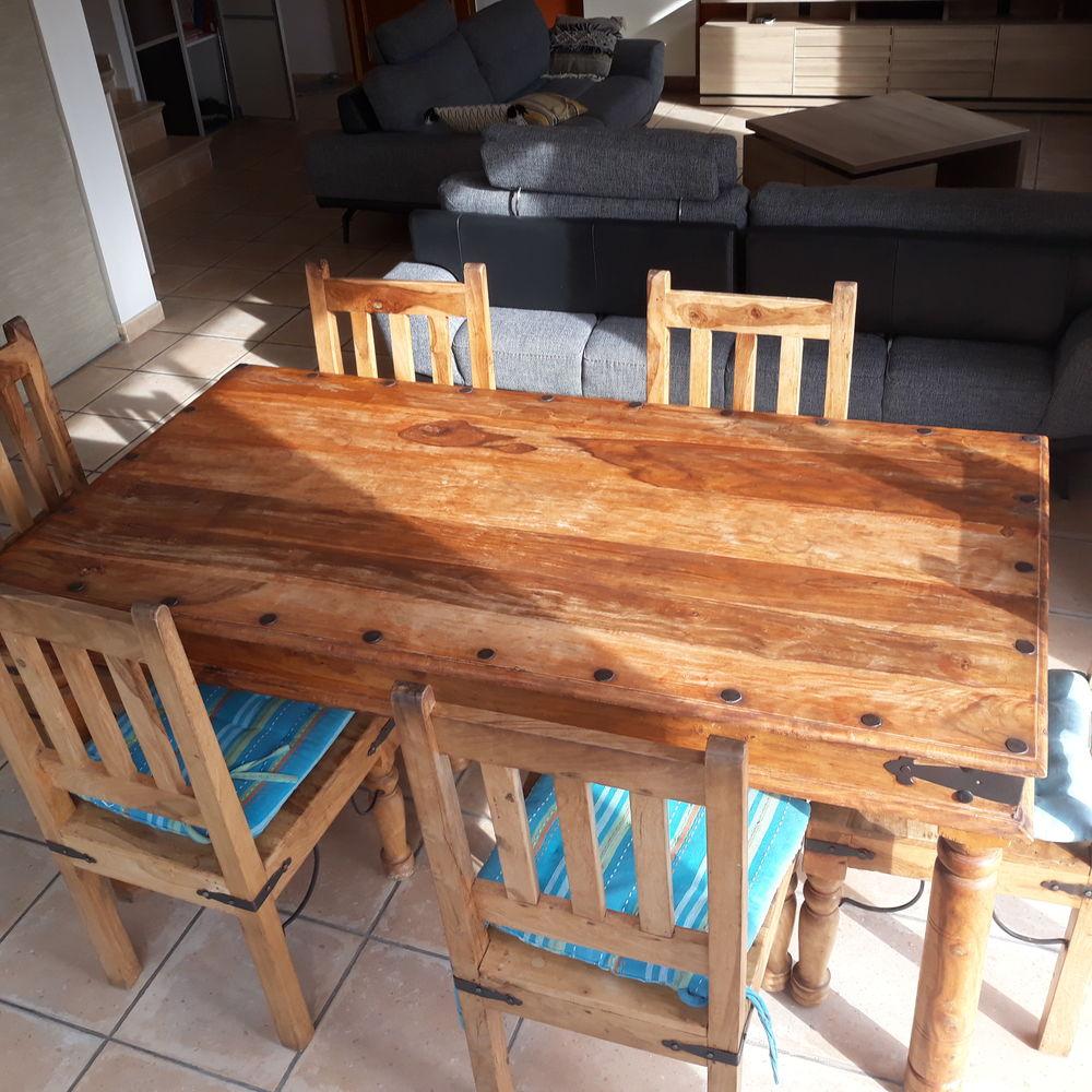 TABLE + 6 CHAISES + 2 CONSOLES 800 Vedène (84)