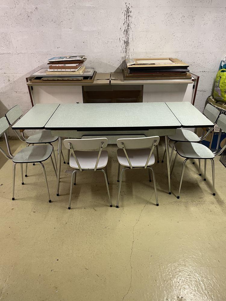 table et chaises de cuisine vintage 1965 60 Meaux (77)