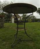 table et chaises - fer forgé et rotin tressé;  180 Bannalec (29)