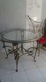 Table et 5 chaises en fer forgé fabrication artisanale. 320 Avignon (84)