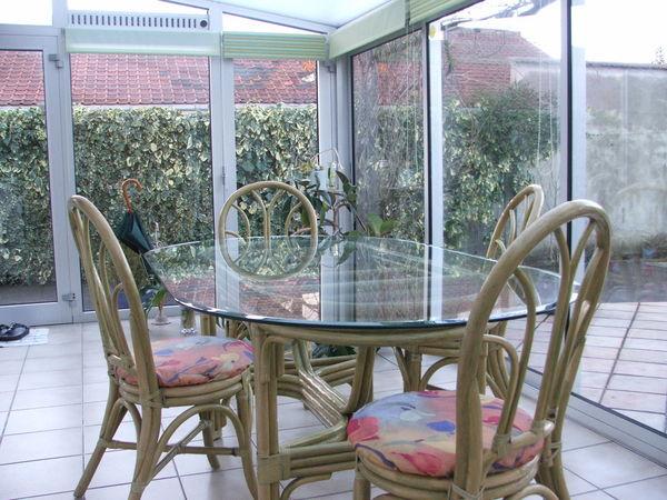 Achetez table et chaises occasion annonce vente loon for Meubles rotin pour veranda