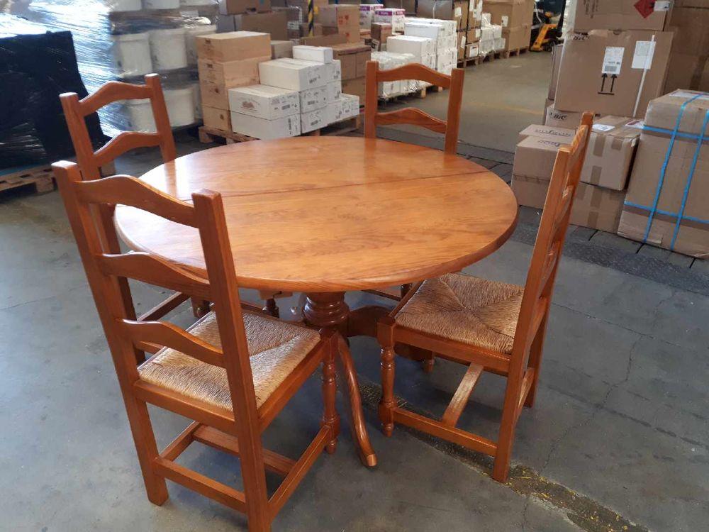 Table et chaises en pin massif 140 Solliès-Pont (83)