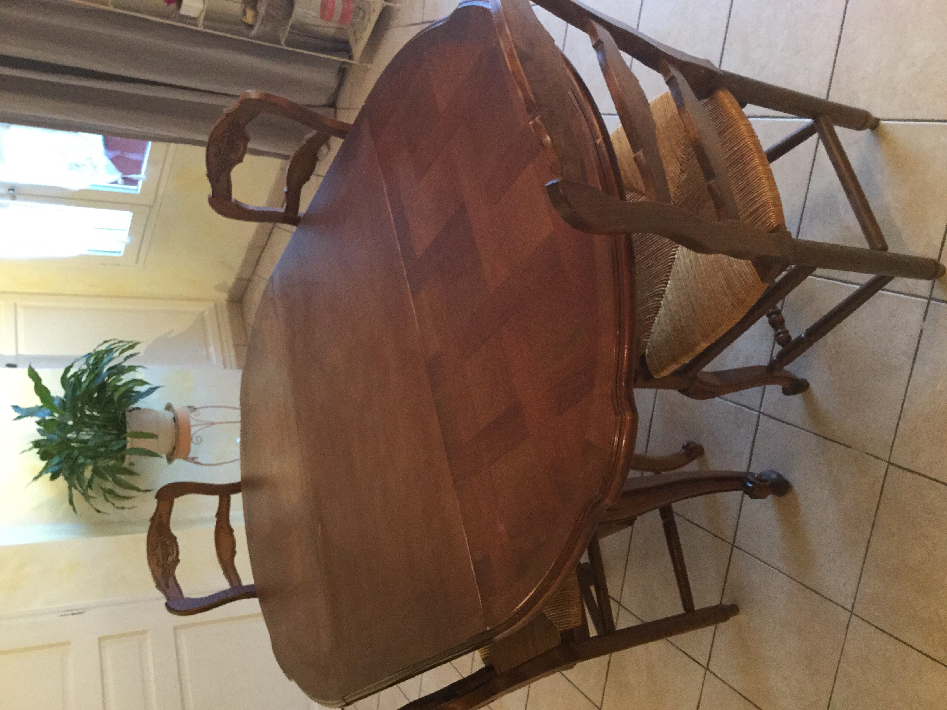 table chaises noyer 300 Barjols (83)
