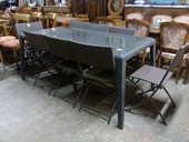 Table et 8 chaises pliantes de jardin 180 Toulouse (31)