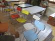 table chaises et tabourets en formica vintage Meubles