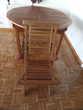 1 TABLE ET 6 CHAISES EN TECK Meubles
