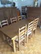 Table en Chêne avec 6 Chaises